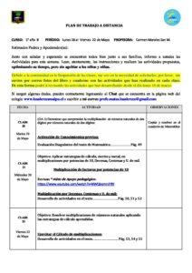 5° B PLAN Clase 20, 21 y 22 ( 18 al 22 de Mayo )