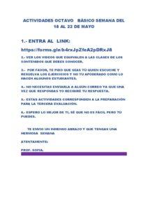 ACTIVIDADES OCTAVO BÀSICO INGLÈS SEMANA DEL 18 AL 22 DE MAYO – copia