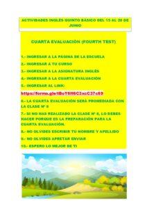 ACTIVIDADES INGLÈS QUINTO BÀSICO DEL 15 AL 28 DE JUNIO (1)