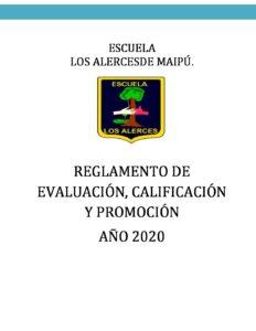 REGLAMENTO DE EVALUACIÓN Y PROMOCIÓN- 2020 – publicado sige