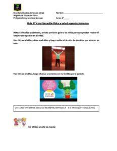 2º A B EDUCACIÓN FÍSICA Guía n° 4 segundo semestre 9 AL 20 NOVIEMBRE