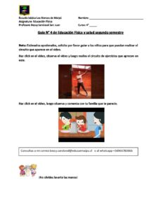 4º A B EDUCACIÓN FÍSICA Guía n° 4 segundo semestre 9 AL 20 NOVIEMBRE